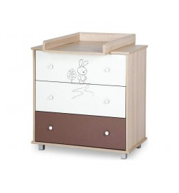 Komoda za bebu Safari Little Bunny White