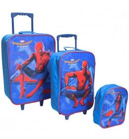Komplet - 2 Kofera i Ranac Za Predškolce Spiderman