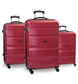 Set ABS kofera 3/1 Porto u crvenoj boji
