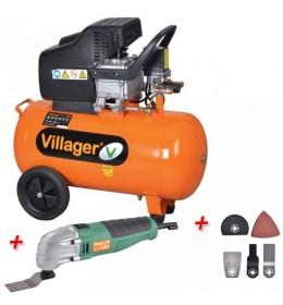 Kompresor Villager VAT 50l + Poklon Villager VLN 180