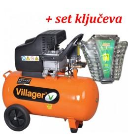 Kompresor za vazduh Villager VAT-24 L + Poklon