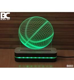 3D lampa Košarkaška lopta toplo bela