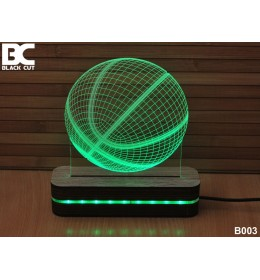 3D lampa Košarkaška lopta zelena