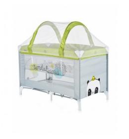 Krevetac za bebe prenosivi Ariel lime