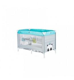 Krevetac za bebe prenosivi Ariel plavi