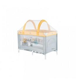Krevetac za bebe prenosivi Ariel žuti