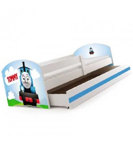 Dečiji krevet Lookie White 160x80 cm sa dušekom dezen 10