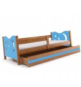 Dečiji krevet Elegant Adler plavi 160x80 cm sa fiokom i dušekom