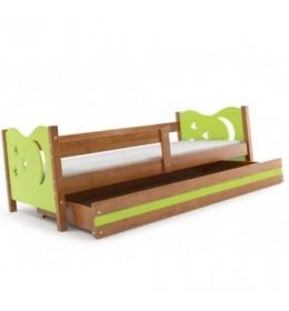 Dečiji krevet Elegant Adler zeleni 160x80 cm sa fiokom i dušekom
