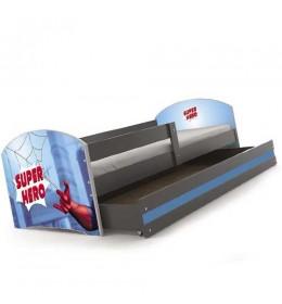 Dečiji krevet Lookie Graphite 160x80 cm sa dušekom dezen 09