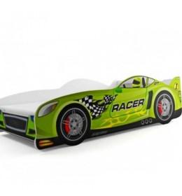 Dečiji krevet Racer zeleni 160x80 cm sa dušekom