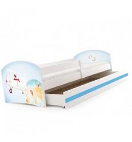 Dečiji krevet Lookie White 160x80 cm sa dušekom dezen 01