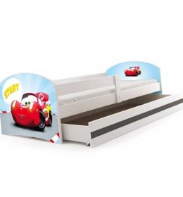 Dečiji krevet Lookie White 160x80 cm sa dušekom dezen 02