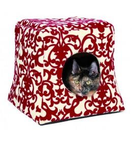 Kućica za mačke 35 cm Trixie crveno-krem