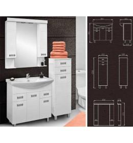 Kupatilski set Idevit Line sa umivaonikom, ogledalom i ormarićem