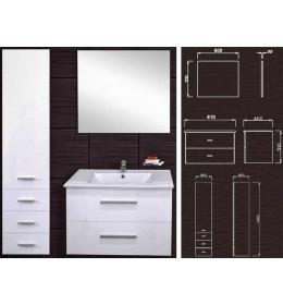 Kupatilski set Venera 1000 sa umivaonikom, ogledalom i ormarićem