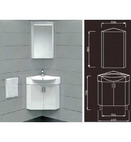 Kupatilski ugaoni set Corner sa umivaonikom i ogledalom