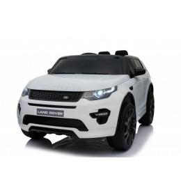 Auto na akumulato Land Rover Discovery sa kožnim sedištem i mekim gumama - Beli