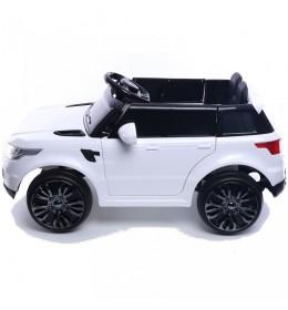 Dečiji auto na akumulator Land Rover Mini beli sa mekim gumama i kožnim sedištem