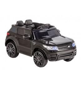 Dečiji auto na akumulator Land Rover Mini crni sa mekim gumama i kožnim sedištem