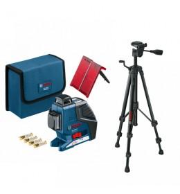 Laser za linije Bosch Professional GLL 3-80 P + Stativ BT 150