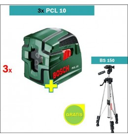 Laser za ukrštene linije Bosch PCL 10 3 kom 6 + Stativ BS 150 gratis
