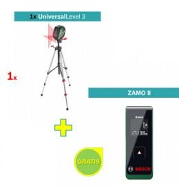 Laser za ukrštene linije Universal Level 3 + Bosch Zamo II