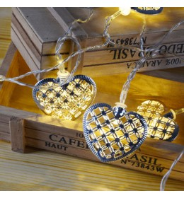 LED lampice metalna srca
