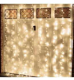 Led svetleća zavesa sa providnim kablom 0,9x2m toplo bela