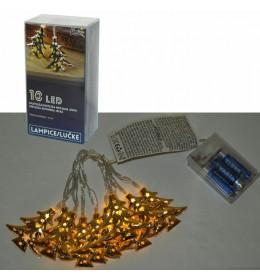LED svetleći borići 10 lampica 6cm