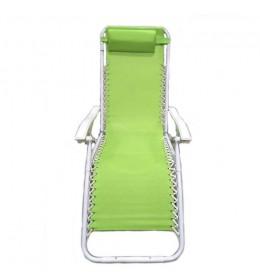 Ležaljka sa jastukom zelena