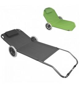 Ležaljka za baštu sa točkićima - zelena