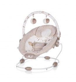 Ležaljka za bebe muzička Siesta beige