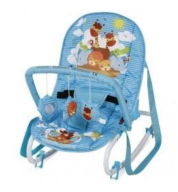 Ležaljka ljuljaška za bebe Top Relax Blue Adventure