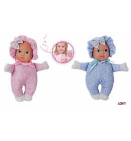 Lutka beba mekana koja plače Loko toys 24 cm ROZE