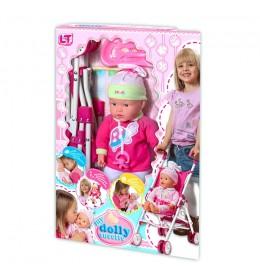 Lutka beba sa kolicima Loko toys 37 cm