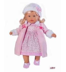Lutka devojčica Loko toys u kaputiću 39cm