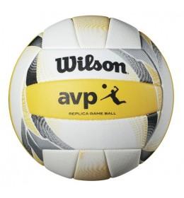 Lopta za odbojku AVP II Replica White/Yellow