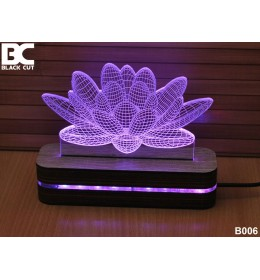 3D lampa Lotus hladno beli