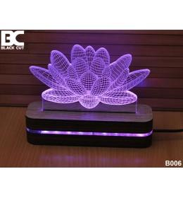 3D lampa Lotus plavi