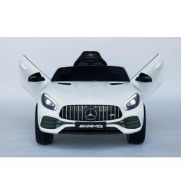 Mercedes AMG GTR Licencirani Auto na akumulator sa kožnim sedištem i mekim gumama Beli