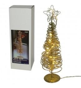 Metalno božićno drvce u zlatnoj boji