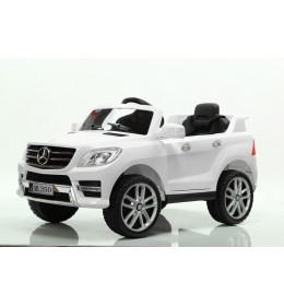 Auto na akumulator sa kožnim sedištem i mekim gumama Mercedes ML350 Licencirani - Beli