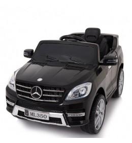 Auto na akumulator sa kožnim sedištem i mekim gumama Mercedes ML350 Licencirani - Crni