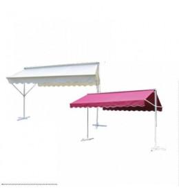 Mobilna aluminijumska tenda 400x300 humus bela