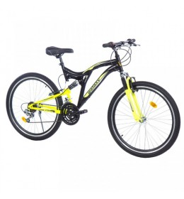 Mountin bike Factor 600 26in 18 crna-neon žuta