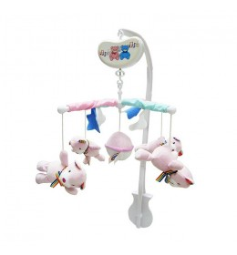 Muzička vrteška veseli medvedići Biba Toys roze
