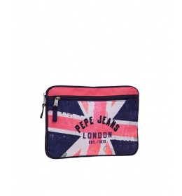 Neseser za tablet  pink/blue London