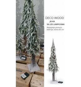 Novogodišnja jelka Deco Wood sa LED lampicama 85 cm