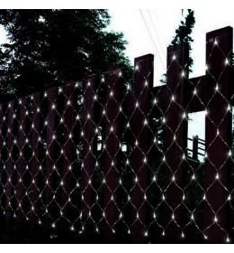 Novogodišnja LED svetleća mreža hladno bela 2x2m za spoljašnju i unutrašnju upotrebu